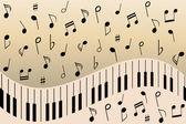Piano music notes — Stock Vector