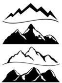 Various mountains — Stock Vector
