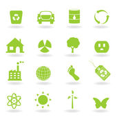 Eco Icon Set — Stock Vector