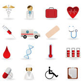 Medical and healthcare symbols — Stock Vector