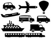Transportation symbols — Stock Vector