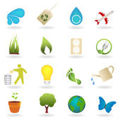 Clean environment symbols — Stock Vector
