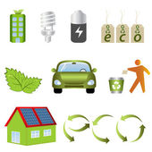 Eco related icons — Stock Vector