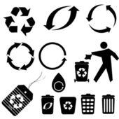 Simboli di riciclaggio — Vettoriale Stock