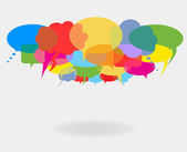 Talk and speech bubbles — Stock Vector