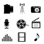 Mass media icons — Stock Vector