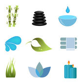 Spa items icon set — Stock Vector
