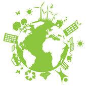 Green environmental earth — Stock Vector
