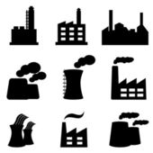 Factories and power plants — Stock Vector