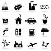 Ecology icon set — Vector de stock