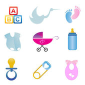 Baby related icon set — Stock Vector