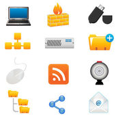 Computer and technoloy icons — Stock Vector