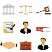 Justice and law icons — Stock Vector