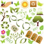 символы эко и окружающей среды — Cтоковый вектор