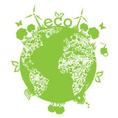 Zelená čisté země — Stock vektor