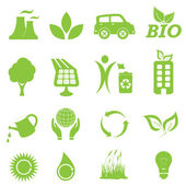 Ecology and environment icon set — Stock Vector