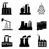 Conjunto de iconos industrial — Vector de stock