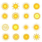 Sol de verano — Vector de stock