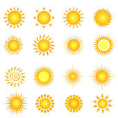 Summer sun — Vector de stock