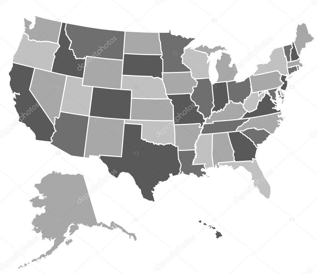 Usa Map Vector Eps Us Map Vector Eps Usa Vector Map Eps America - Usa map eps