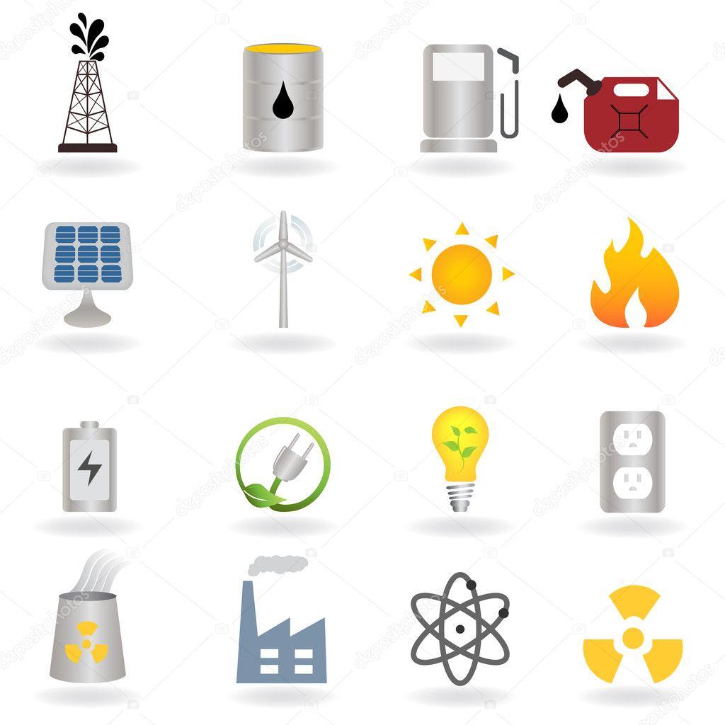 Clean alternative energy and environment — Stock Vector © soleilc ...