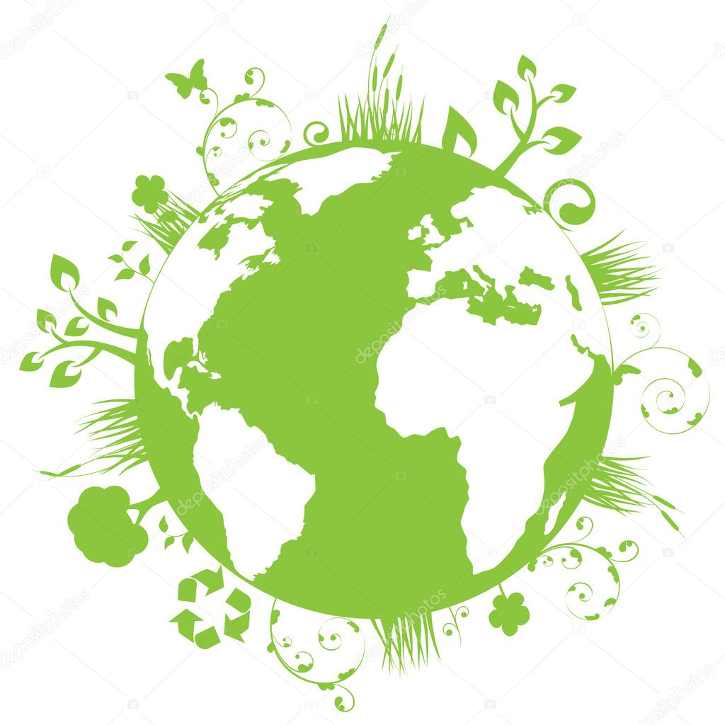 Green and clean earth  — Stock Vector #5985020
