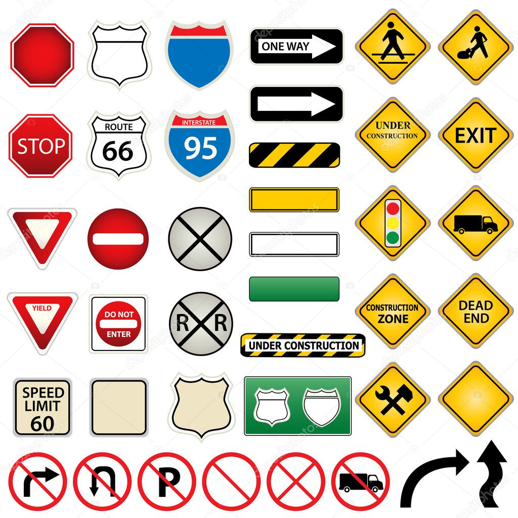 Road Signs nc Road And Traffic Signs Stock