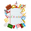 Back to School objects — Stock Photo