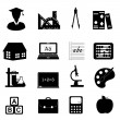 Stock Photo: Education and school icon set
