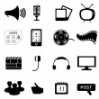 Media or multimedia icons — Stock Photo