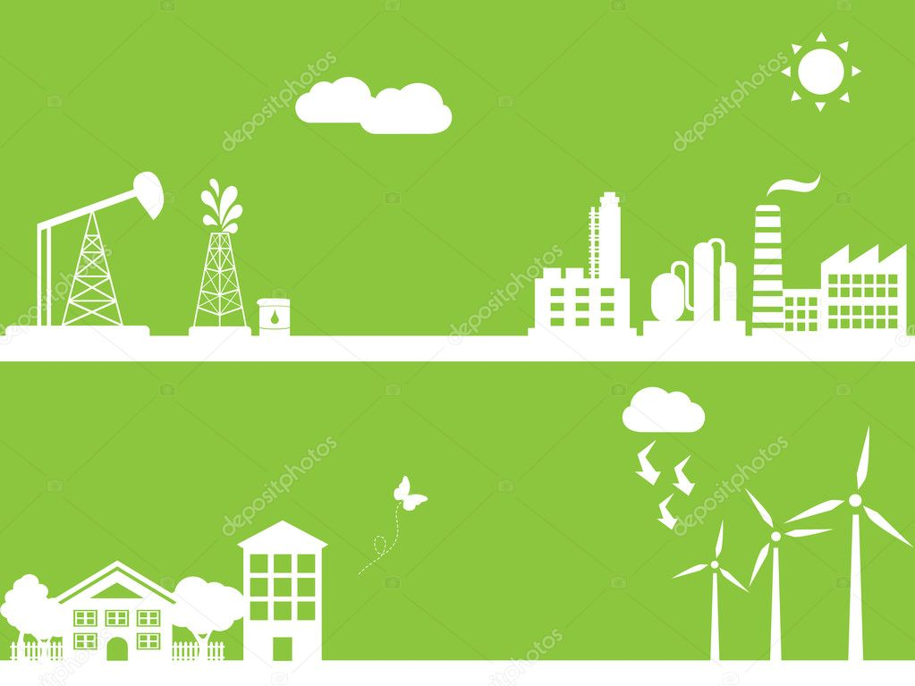 Cities using clean alternative energy sources — Stock Photo #6200145