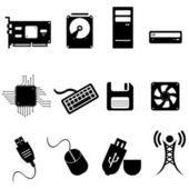 Iconos de computadoras y tecnología — Foto de Stock