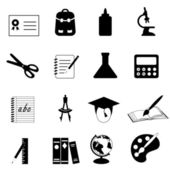 Education and school icons — Stock Photo