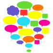 Talk, thought and speech bubbles — Stock Photo