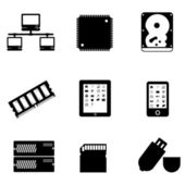 Computer parts and devices — Stock Photo