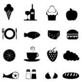 Food icon set — Stock Photo