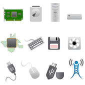 Computer parts and hardware — Stock Photo