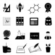 School and education icon set — Stock Photo