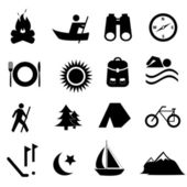 Leisure and recreation icons — Stock Photo