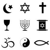 Religios symbolen pictogrammen — Stockfoto