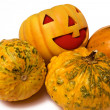 Stock Photo: Prank Pumpkin