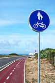 Bike route sign — Foto de Stock
