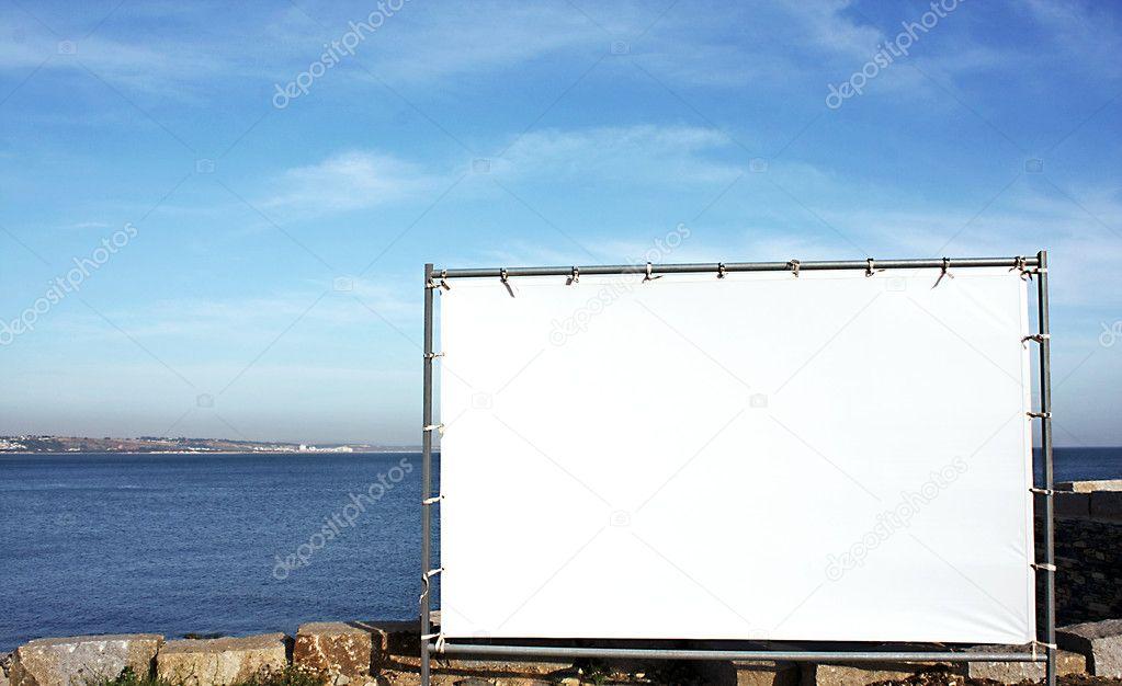 户外广告的画布面板
