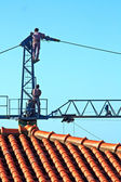 Dismantling the crane — Stock Photo