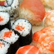 Japonese sushi seafood and other — Stock Photo