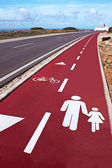 Cycle route — Stock Photo