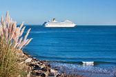 Cruise ship leaving — Stock Photo
