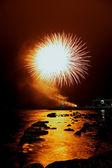 Orange firework — Stock Photo