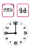 Valentines day clock — Stock Photo