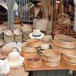 Stock Photo: Hats and basketry